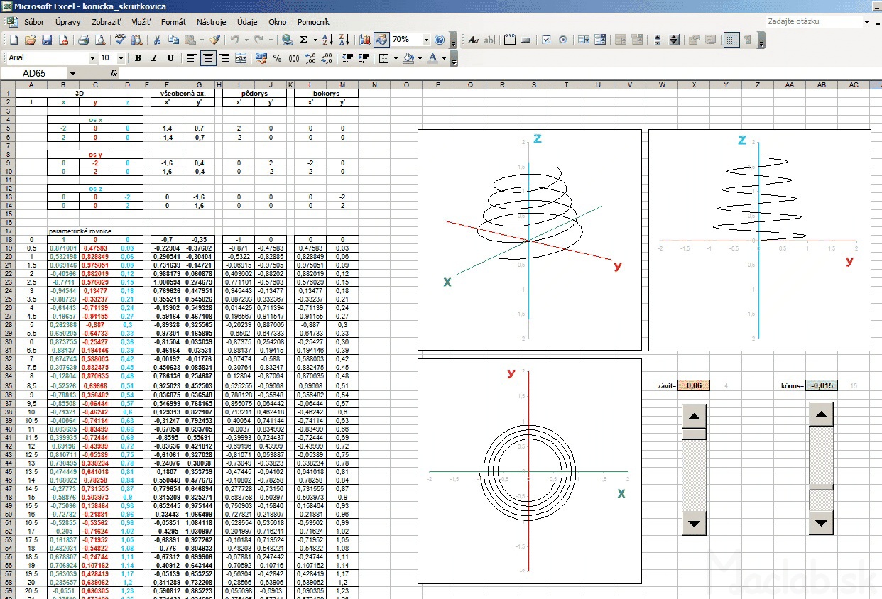 3d graph xyz in excel conical cone helix in excel ccuart Images