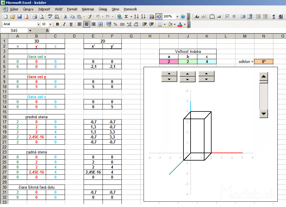 Drawing Lines With Excel : D graf xyz excel