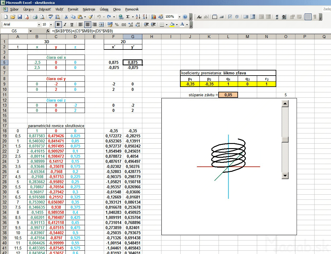 3d graph xyz in excel